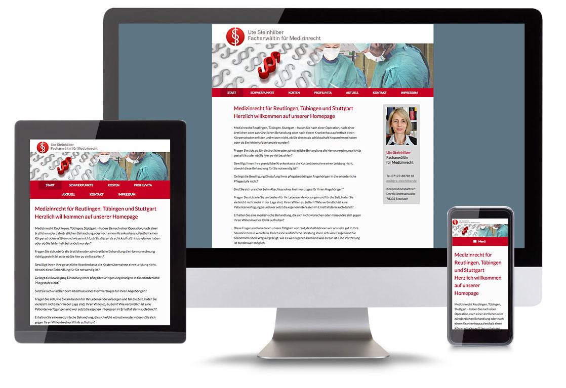 Website und Webdesign für Medizinrecht Kompetent by blick-7
