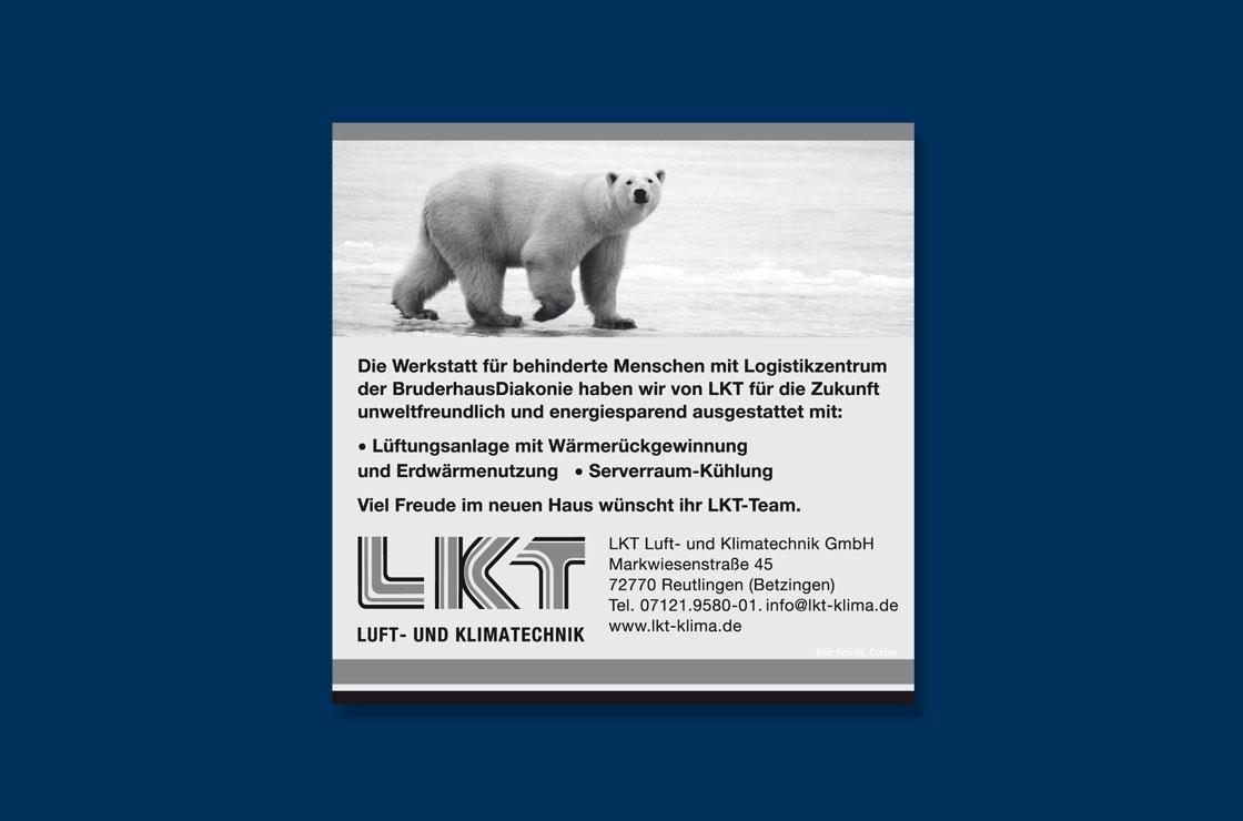 Anzeige LKT Luft- und Klimatechnik Design by blick-7 Designbüro und Werbeagentur zwischen Tübingen und Reutlingen