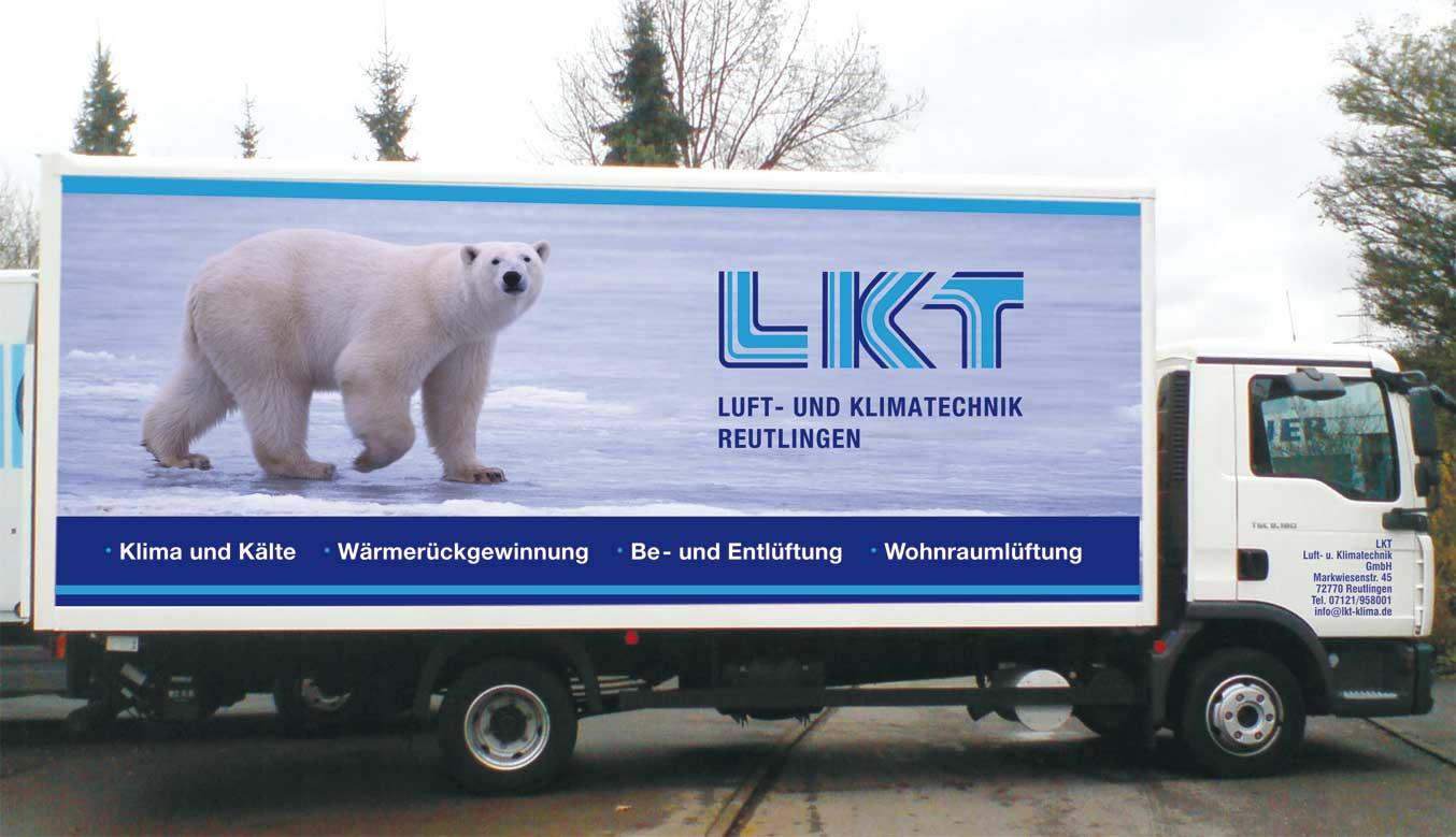 Design LKW LKT Luft- und Klimatechnik Design by blick-7 Designbüro und Werbeagentur zwischen Tübingen und Reutlingen