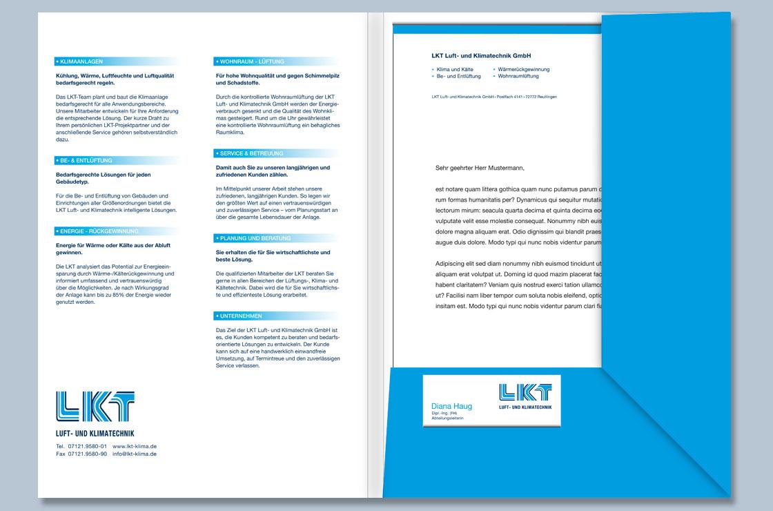 Angebotsmappe LKT Luft- und Klimatechnik Design by blick-7 Designbüro und Werbeagentur zwischen Tübingen und Reutlingen