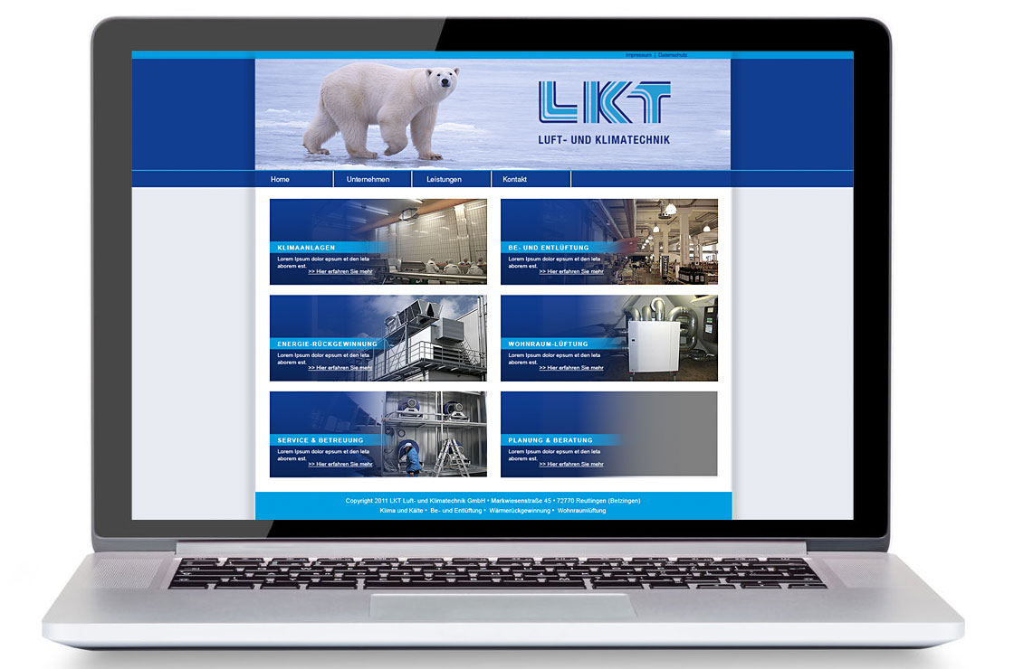 Website und Webdesign für LKT by blick-7