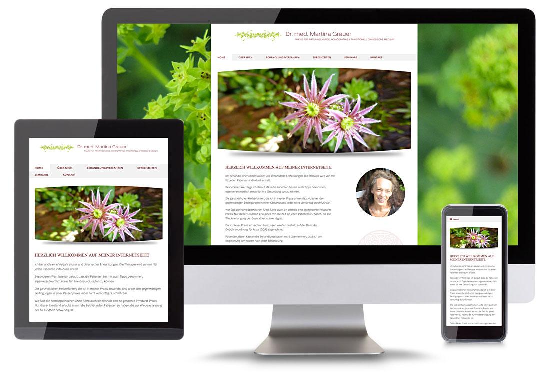Beispiel Webdesign Dr. Martina Grauer by blick-7